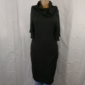 Calvin Klein long ribbed sweater top/dress large